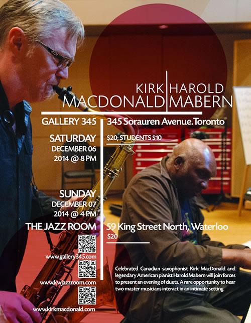 Kirk MacDonald & Harold Mabern Gallery 345 Poster