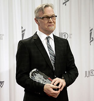 Kirk MacDonald with Juno Award